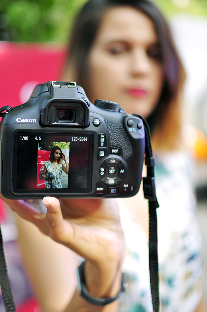 Canon EOS 1300D | Akanksha Redhu | #ReadyWithEOS1300D | camera screen with me in it