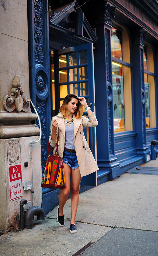 Soho | NYC | Akanksha Redhu | full front blue wall