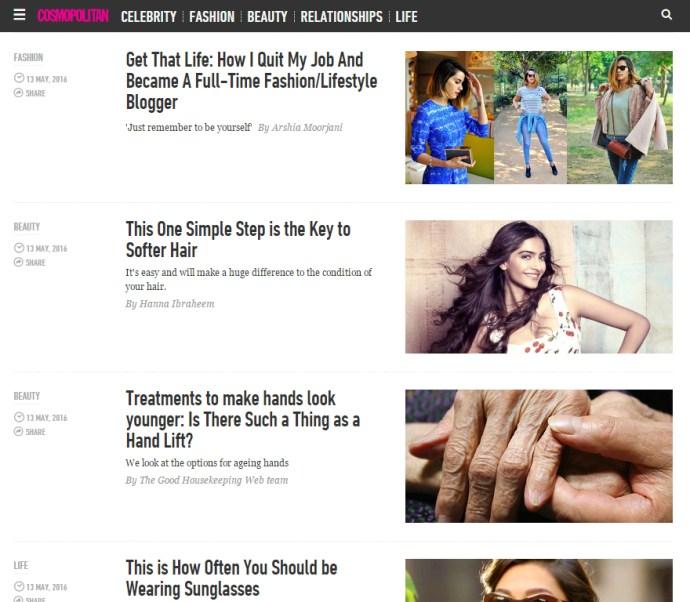 Cosmopolitan India | Akanksha Redhu | main page
