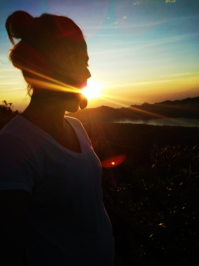 Mount Batur Sunrise Trek | Bali | Akanksha Redhu | eating sun