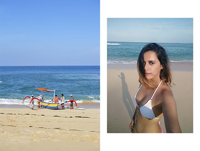 Nikkos Beach | Bali | Akanksha Redhu | combo boat in water bikini