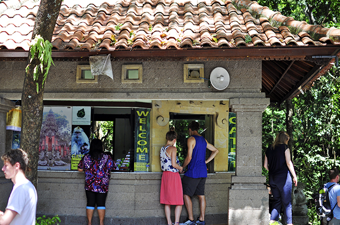 Sacred Monkey Forest Sanctuary - Ubud | Akanksha Redhu | ticketing counter