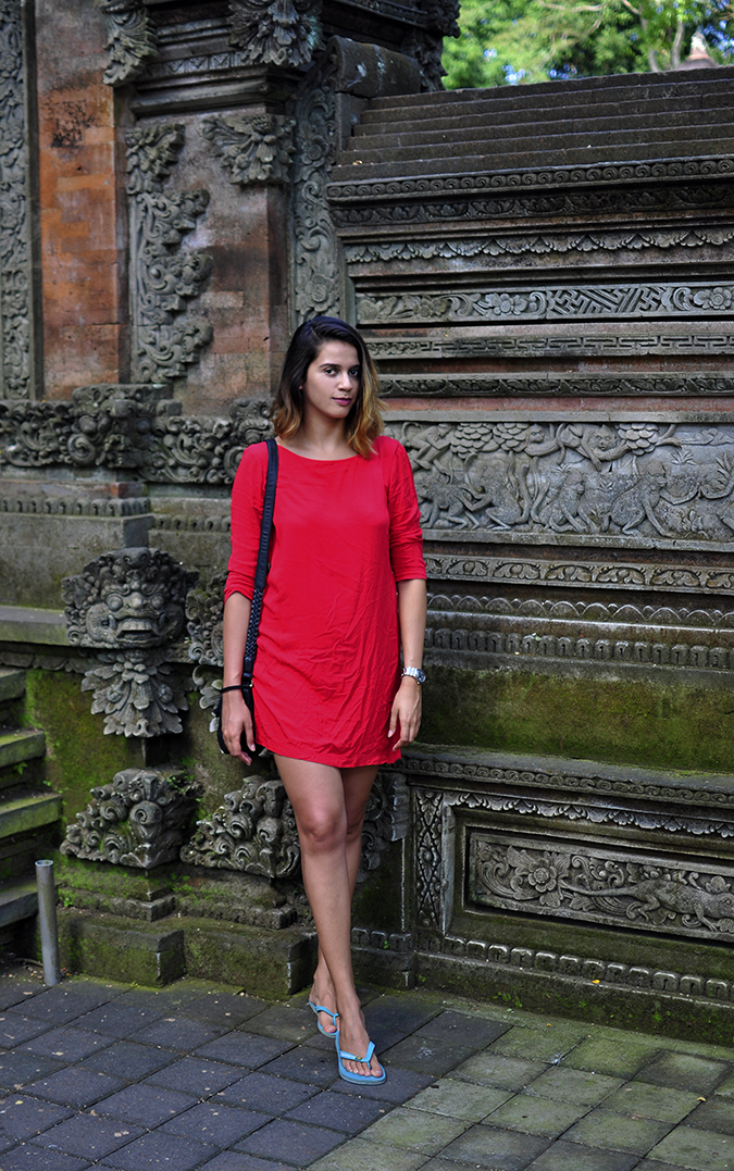 Sacred Monkey Forest Sanctuary - Ubud | Akanksha Redhu | full front next to stone work