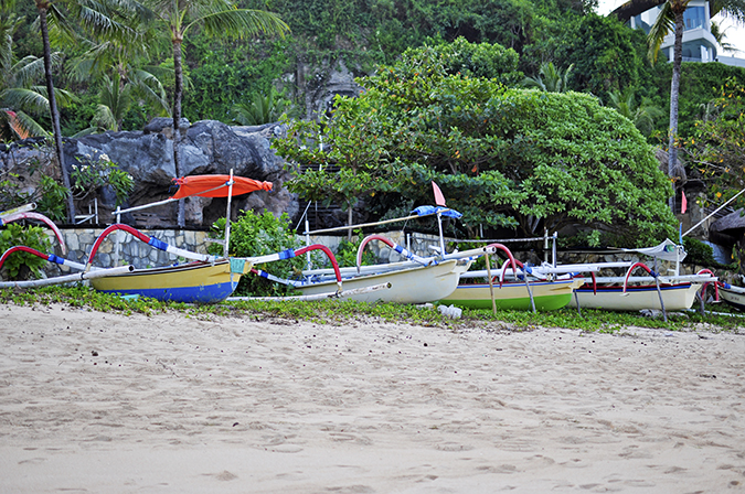 Nikkos Beach | Bali | Akanksha Redhu | boats docked wide