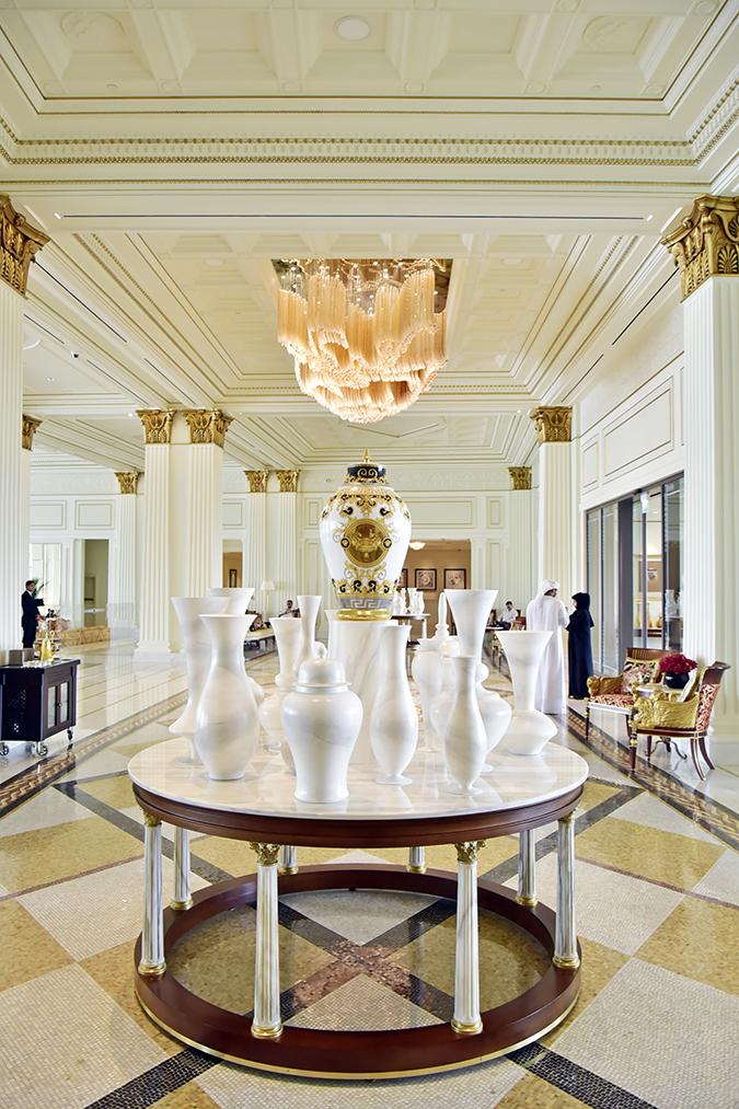 Emirates Holidays | Dubai | Akanksha Redhu | palazzo versace interiors pots