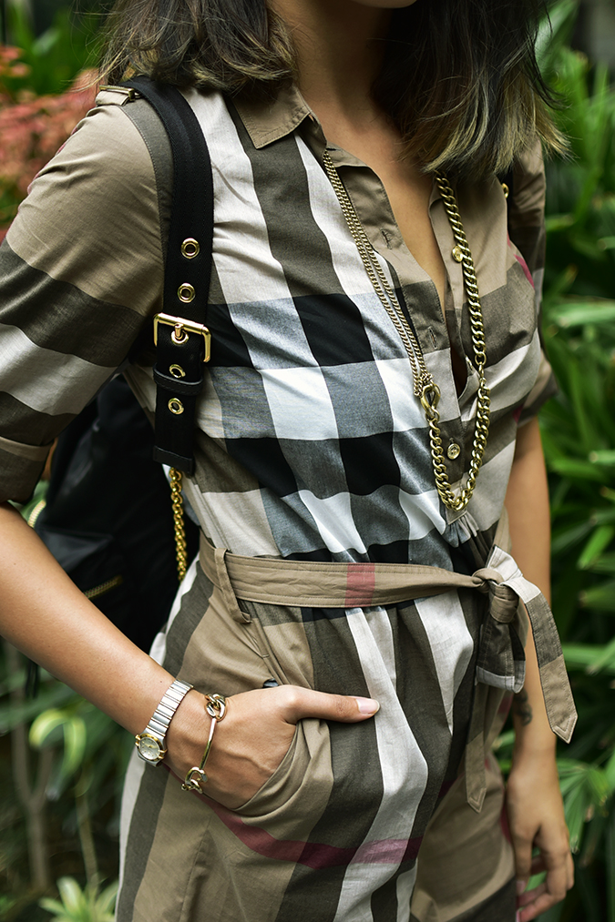 Reinvent Obsession | HP | Akanksha Redhu | details of check dress