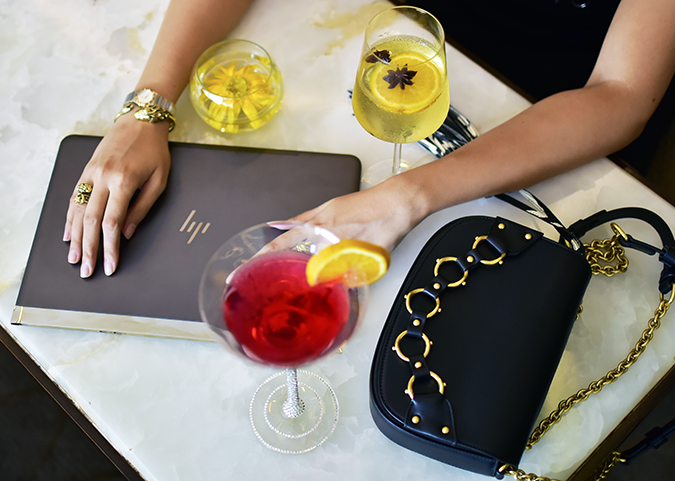 Reinvent Obsession | HP | Akanksha Redhu | table hands bag drink