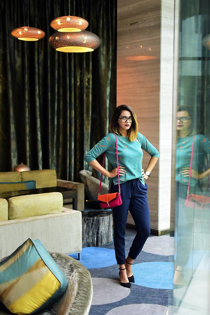 Benetton India | Akanksha Redhu | full front far hands on waist