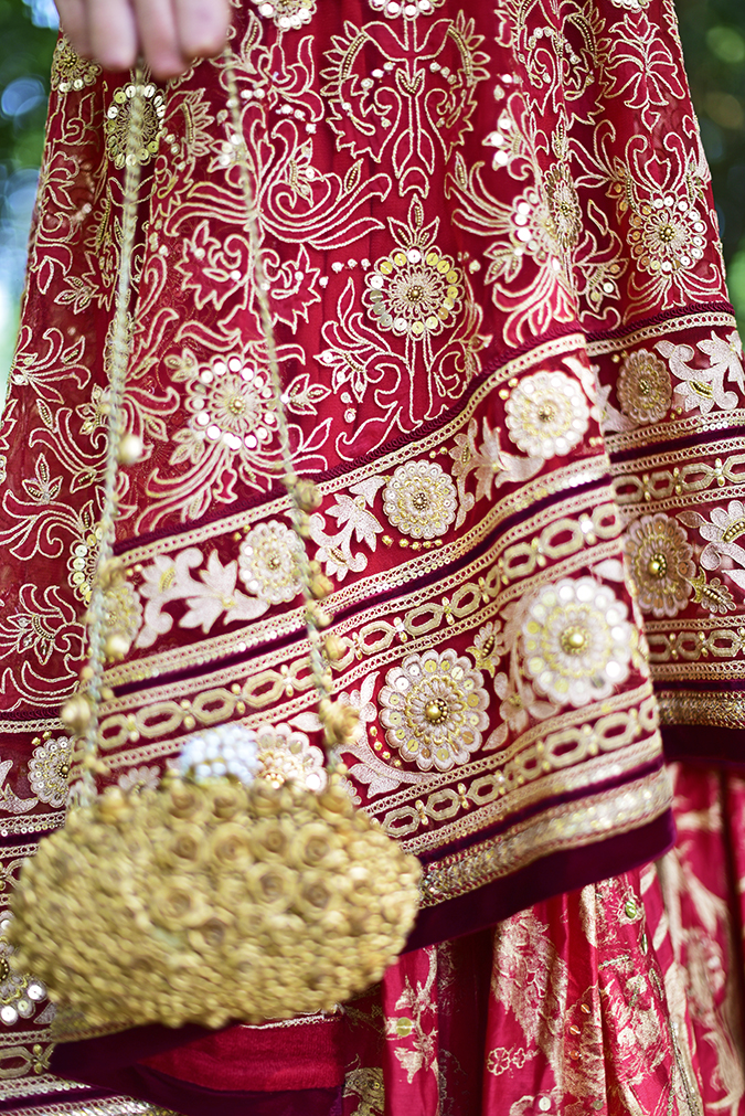 Tarun Tahiliani | Akanksha Redhu | bottom details bag hanging