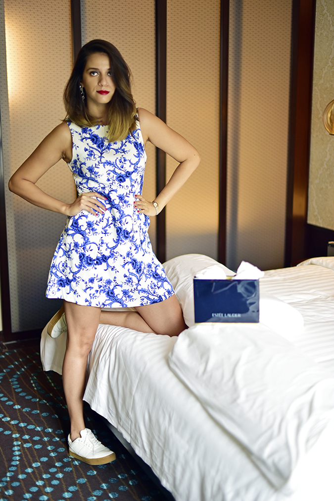 #BornFromColor | Estée Lauder | Akanksha Redhu | full front leg on bed