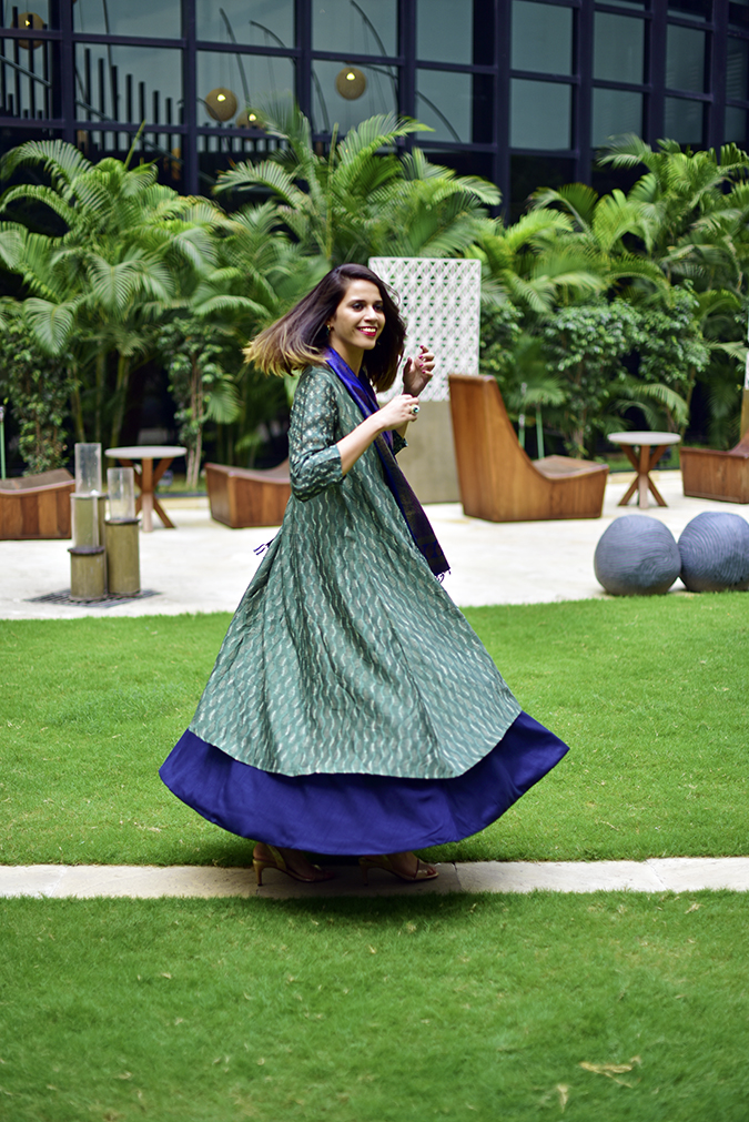 Amazon India Modern Festive | Akanksha Redhu | twirl side with smile face