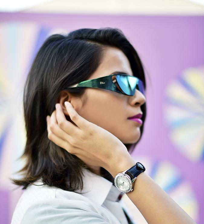 #AIFWSS17 | Akanksha Redhu | hair behind ear watch