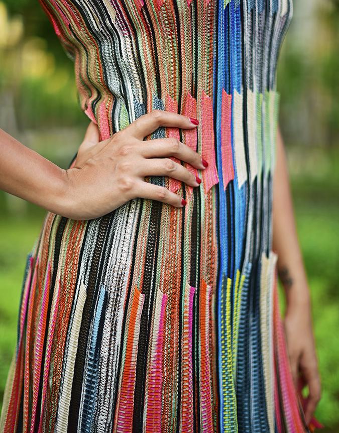 Swarovski Confluence | Akanksha Redhu | fabric detail