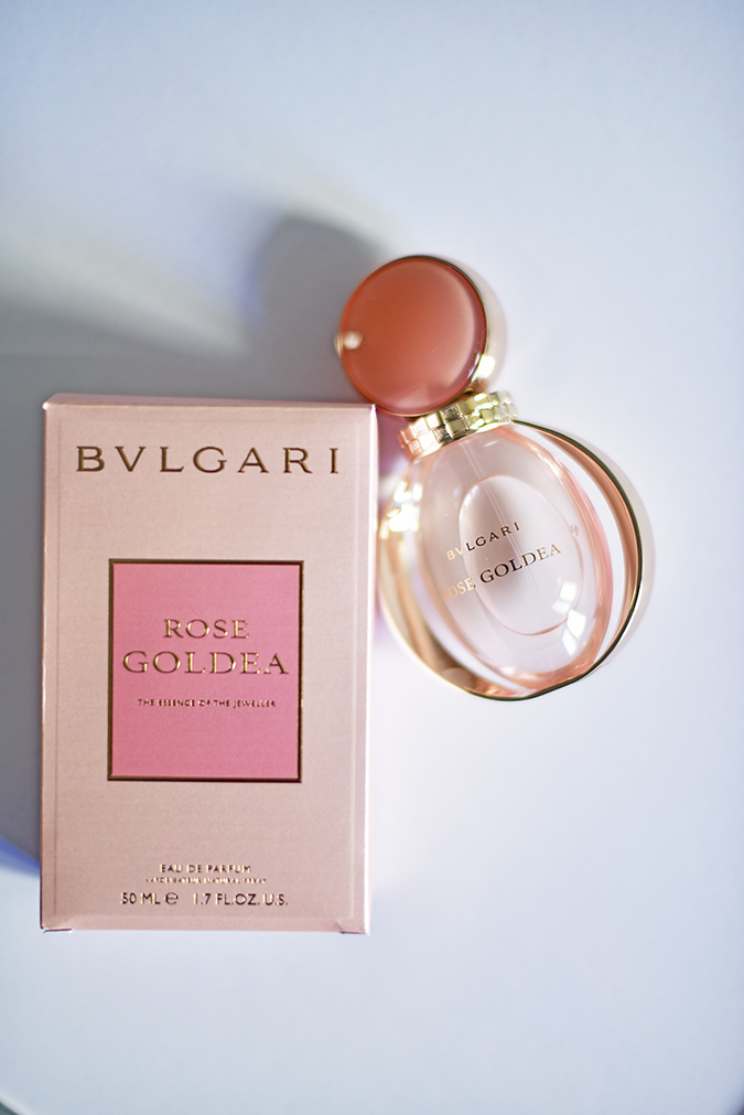 Bvlgari Rose Goldea | Akanksha Redhu | flatlay carton and bottle no flash