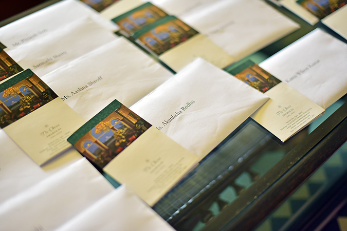 Salvatore Ferragamo | Akanksha Redhu | key cards arranged
