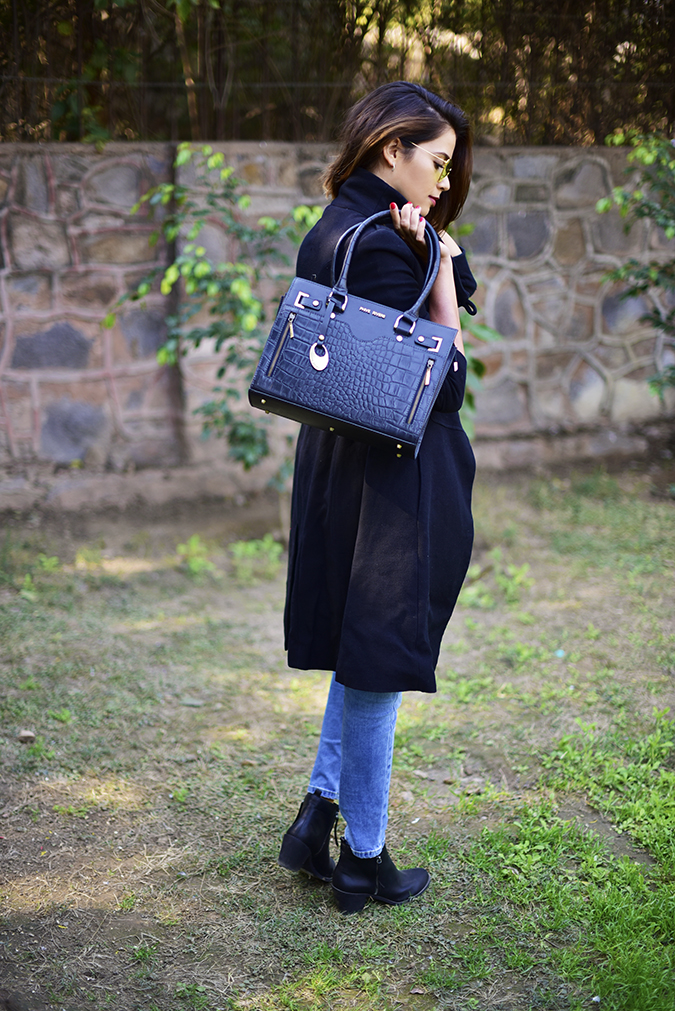 Winter Essentials | Akanksha Redhu | full side back bag on shoulder