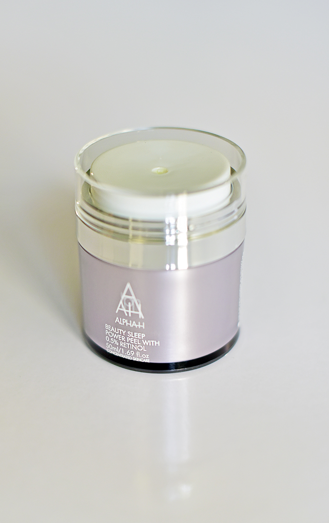 Alpha-H Beauty Sleep Power Peel | Akanksha Redhu | front bottle standing long