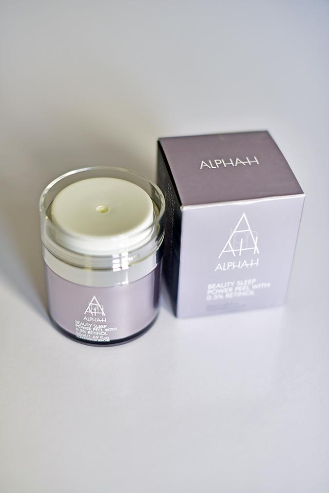 Alpha-H Beauty Sleep Power Peel | Akanksha Redhu | front top bottle standing carton