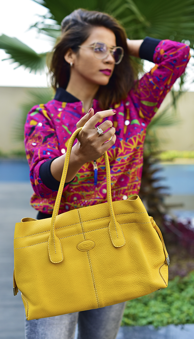Color Riot | Akanksha Redu | half front bag in focus