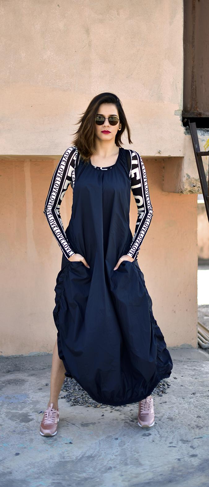H&M Studio SS17   Akanksha Redhu   full front legs apart hand in pocket