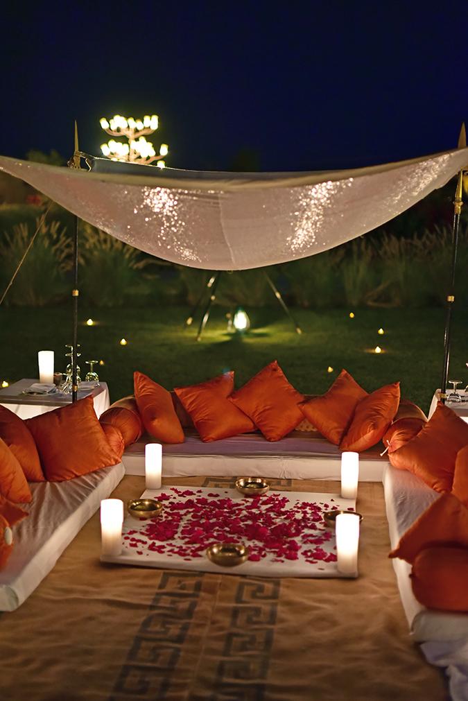 Suryagarh Jaisalmer | Akanksha Redhu | under the stars dinner seating
