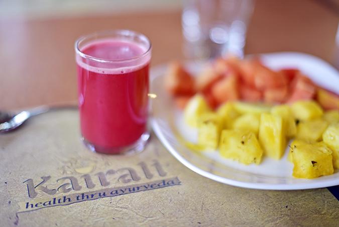 Kairali Ayurvedic Healing Village | Akanksha Redhu | fruits brekkie