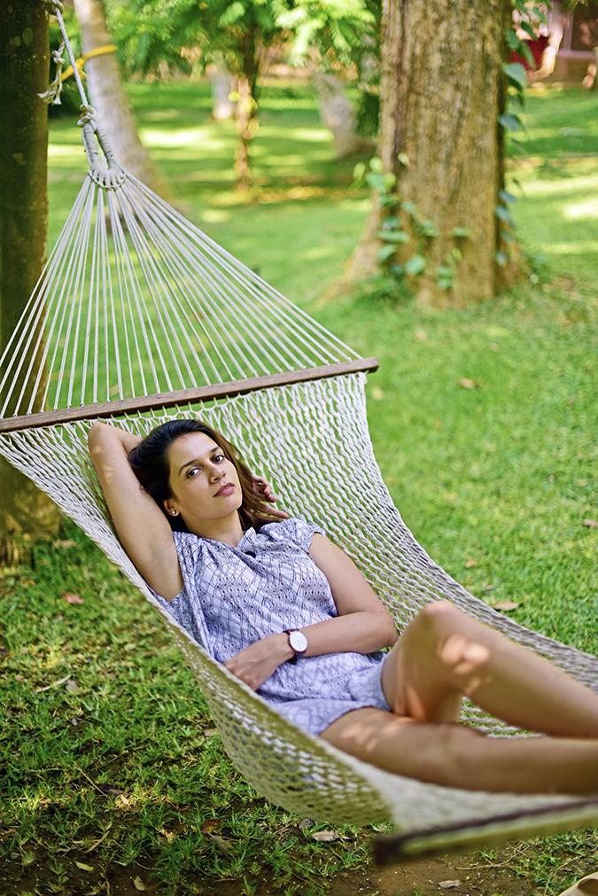 Kairali Ayurvedic Healing Village | Akanksha Redhu | on hammock