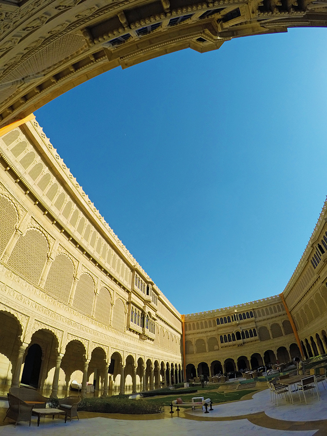 Suryagarh Jaisalmer | Akanksha Redhu | courtyard sky gopro
