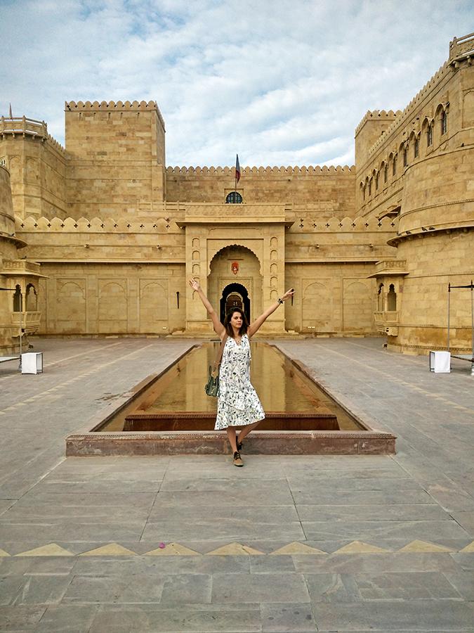 Suryagarh Jaisalmer | Akanksha Redhu | full in front of water body entrance