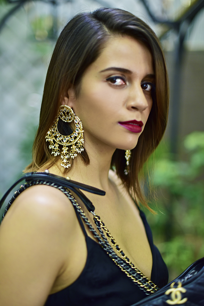 Chanel Gabrielle Bag | Akanksha Redhu earrings