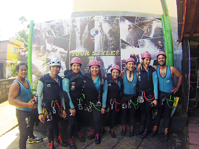 Canyoning in Bali | Akanksha Redhu | group shot before
