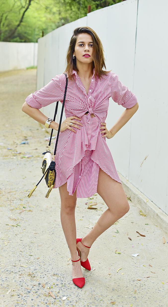 Fashion Capsule by Mallika Jain | Akanksha Redhu | full front arms on waist leg bent
