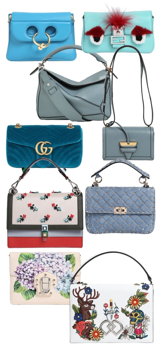 Current Hot Bags List | Shades of Blue | Luisaviaroma