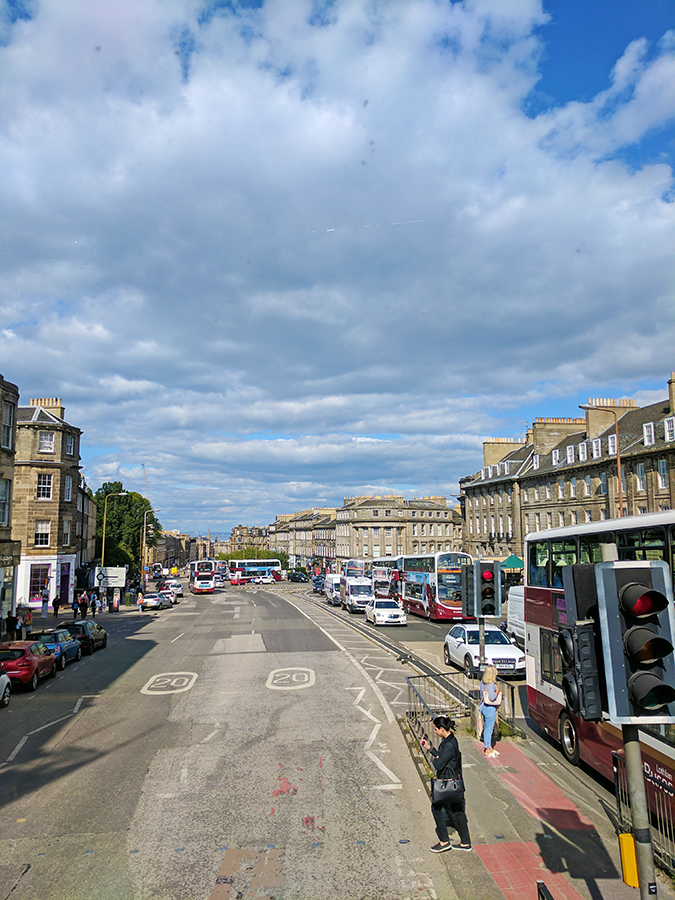 Edinburgh | Akanksha Redhu | view of road from bus top