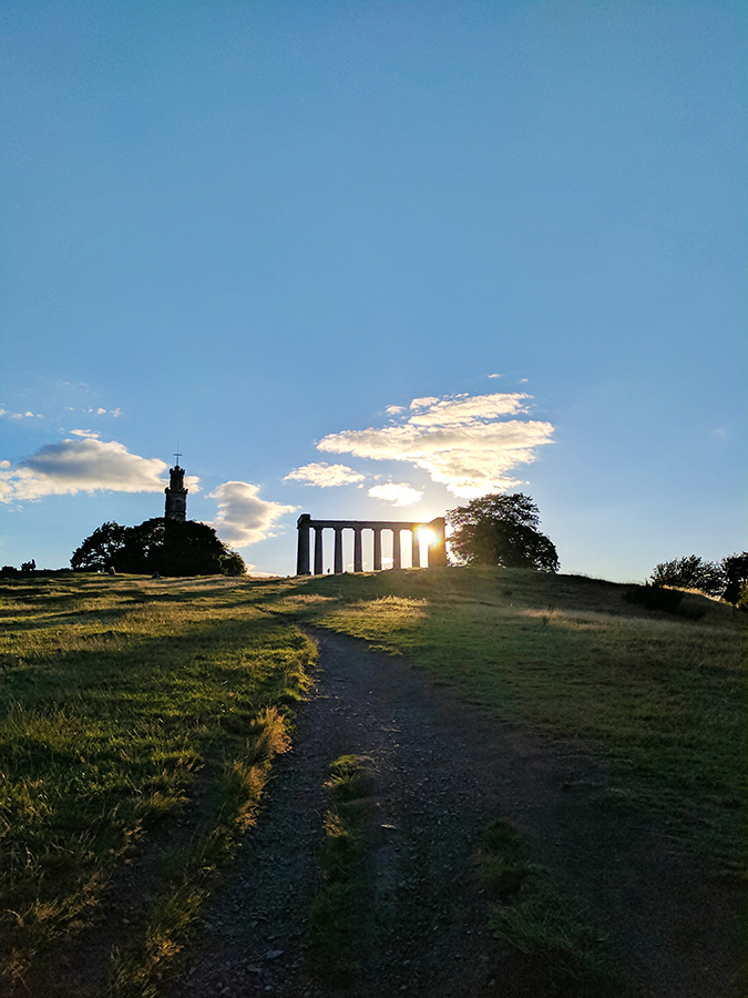 Edinburgh | Akanksha Redhu | calton hill against light