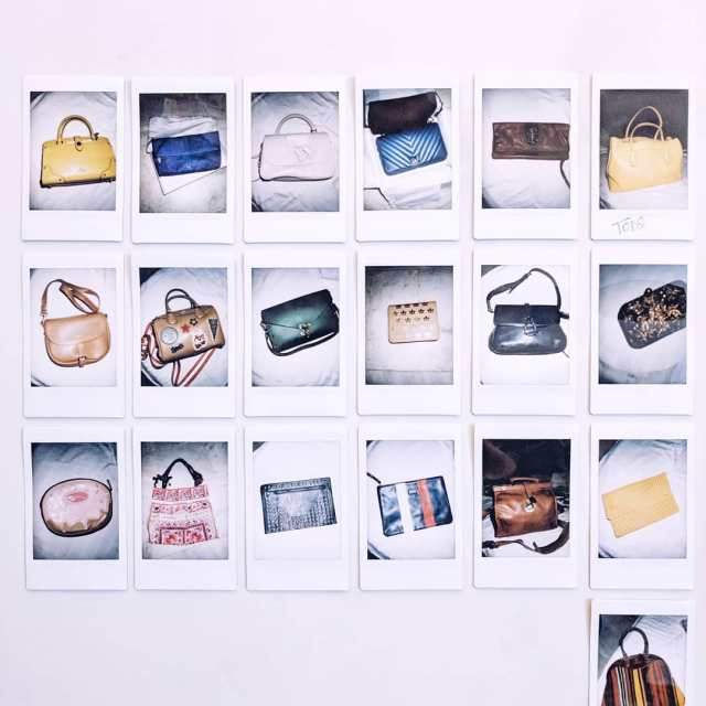 Spending my Saturday sorting through all my handbags clicking polaroidshellip