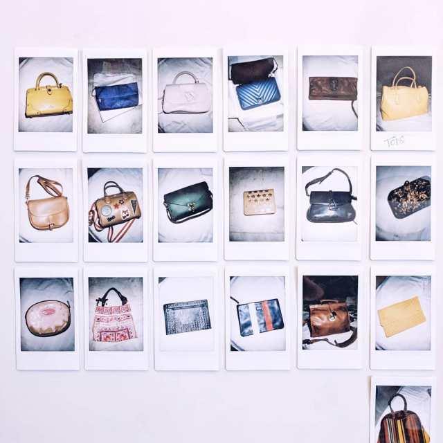 Spending my Saturday sorting through all my handbags clicking polaroidshellip
