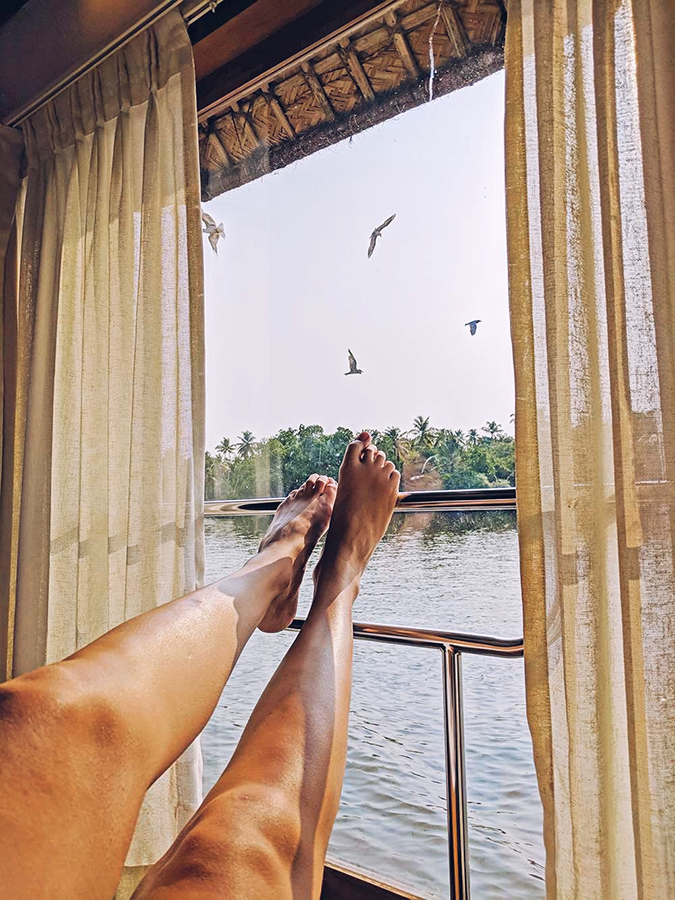 Kerala Backwaters | Vayalar | feet birds