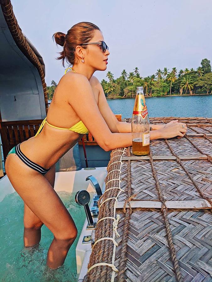 Kerala Backwaters | Vayalar | bikini not holding beer bottle