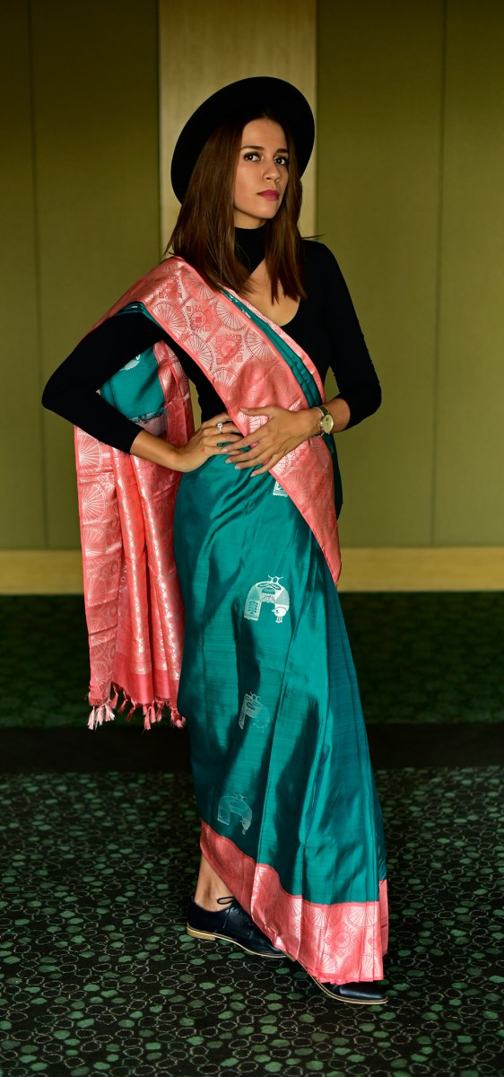 Edgy Saree Look | Palam Silks