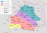 Map of Belorussian dialects @ Wikipedia