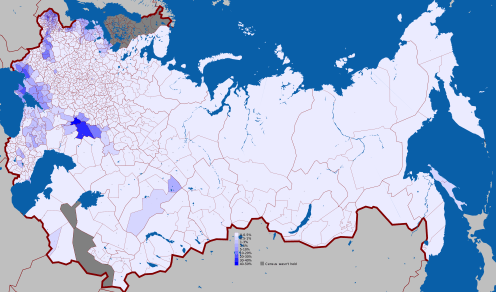 German Language in the Russian Empire (1897)