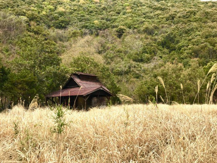炭焼き小屋。
