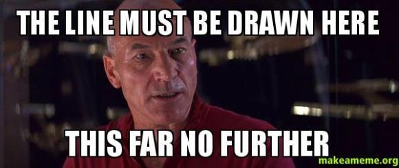 draw the line meme