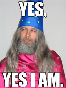 i am a wizard meme