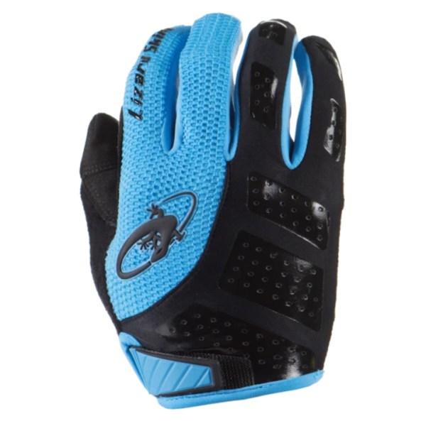 Rękawiczki LIZARDSKINS MONITOR SL długi palec niebieskie (Jet Black/Electric Blue)