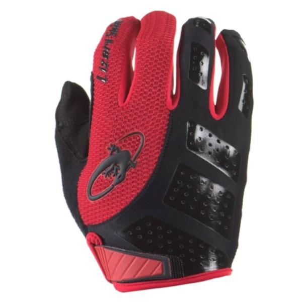 Rękawiczki LIZARDSKINS MONITOR SL długi palec czerwone (Jet Black/Crimson)
