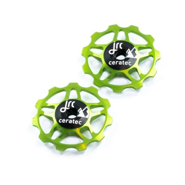 Kółka ceramiczne przerzutki JRC Components 11T do 9/10/11 Sram/Shimano/Campagnolo - fluo zielone /acid green/