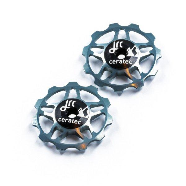Kółka ceramiczne przerzutki JRC Components 11T do 9/10/11 Sram/Shimano/Campagnolo - szare /gunmetal/