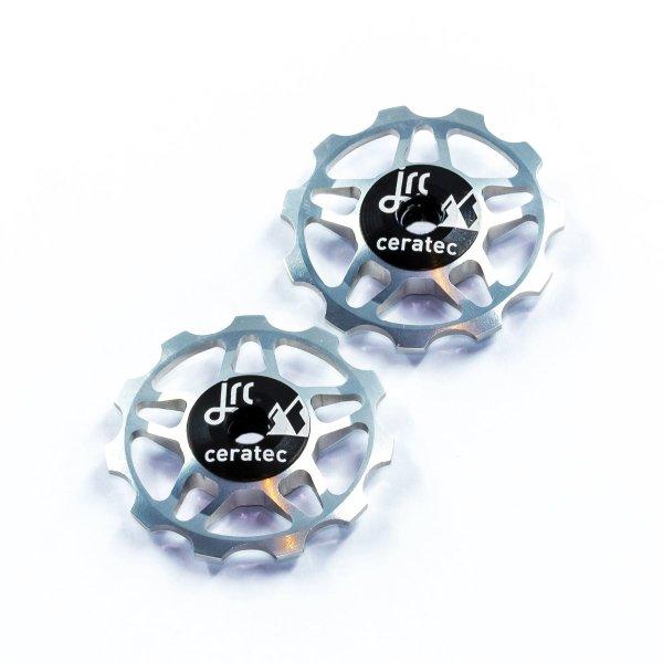 Kółka ceramiczne przerzutki JRC Components 11T do 9/10/11 Sram/Shimano/Campagnolo - srebrne /silver/